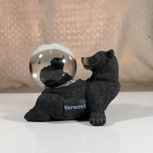 Laying Black Bear Snowglobe