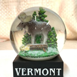 Moose in The Woods Snowglobe
