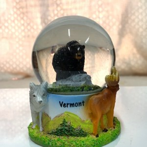 Black Bear With Moose and Wolf Snowglobe