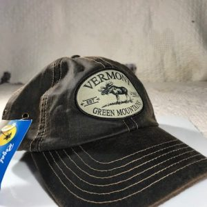Vermont Moose Leatherly Look Baseball Hat