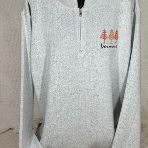 Vermont Salt and Pepper Quarter Zip Sweatshirt