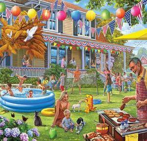 Backyard BBQ Puzzle 1000 pc.