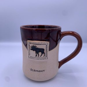 Half Glazed Moose Ceramic Mug
