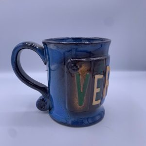 Vermont Abstract License Plate Mug
