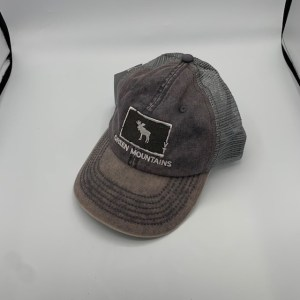 Vermont Distressed Moose in Square Hat