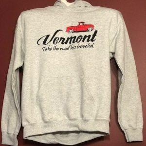 Vermont Road Less Traveled Hooded Sweatshirt