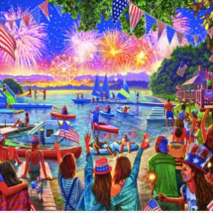 4th of July Fireworks 1000 pc.