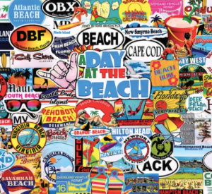 A Day at the Beach 1000 pc.