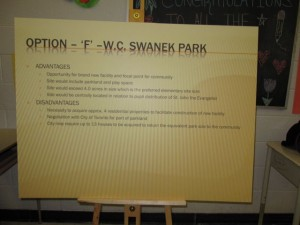 Swanek Park as option