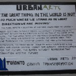 Caption beside the Urban Arts Mural completed in Summer 2010