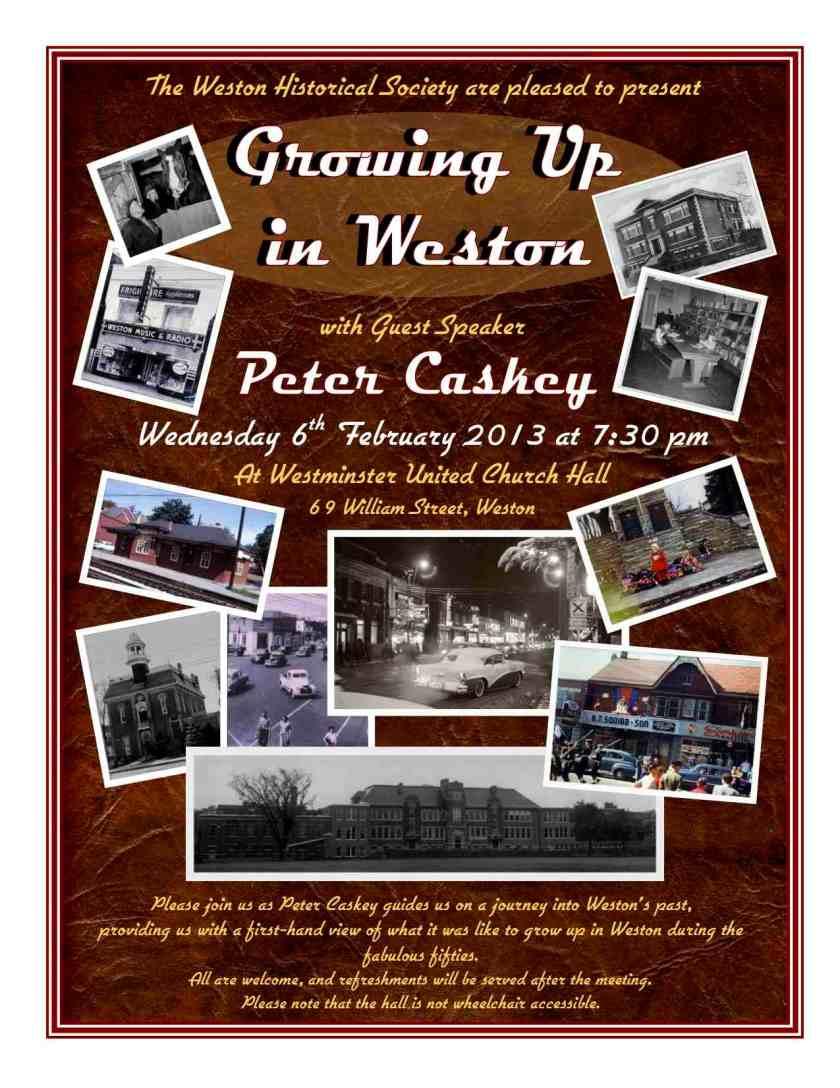 Growing Up in Weston