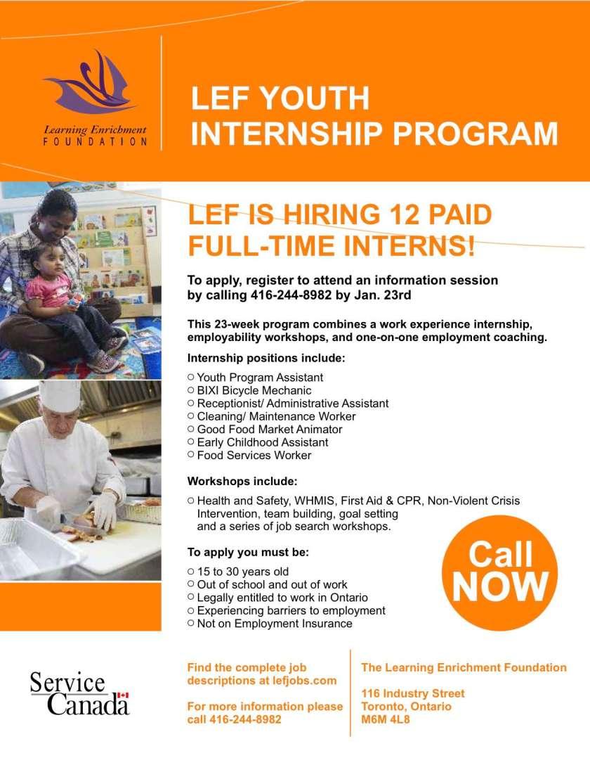 LEF Internship Poster