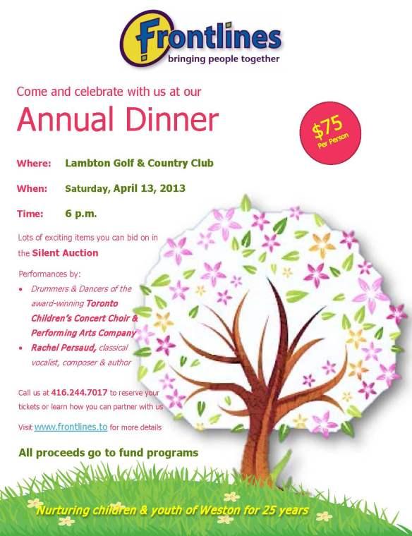Annual Dinner Reminder Flyer 2