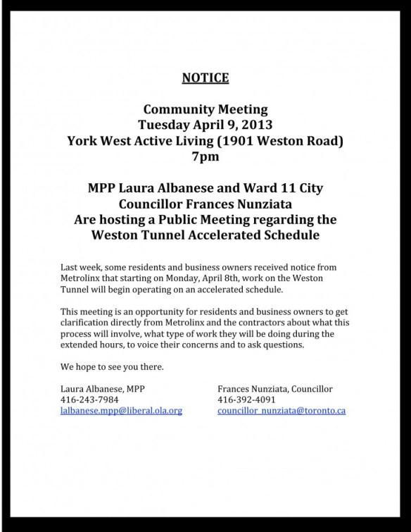 April 9th Community Meeting Flyer