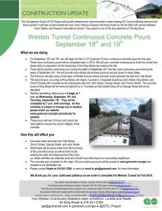 20130911 Weston Tunnel Continuous Concrete Pours_Ver 2_FINAL