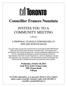 2059-2069 Weston Road Mtg - Oct 30