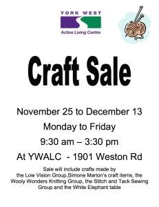Craft sale poster