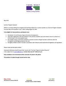 Summer Program Assistant 2014 CSJ copy