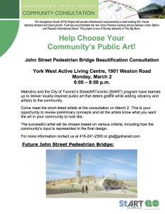 John St. Pedestrian Bridge Art Community Meeting Flyer (1)