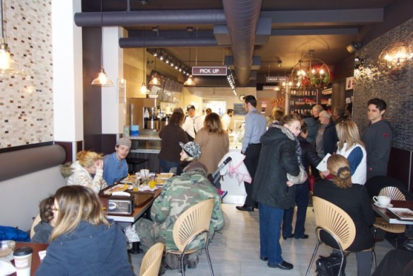A packed house enjoys Perfect Blend's offerings.