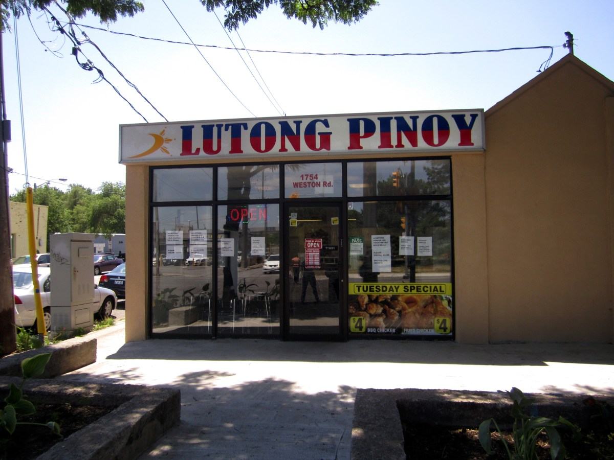 Lutong Pinoy: A New Filipino Restaurant on Weston!
