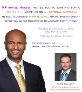 Ahmed Hussen Electoral Reform