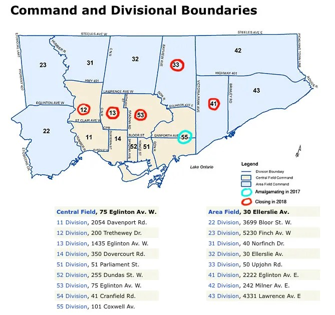 A look at the future of Toronto's police divisions.