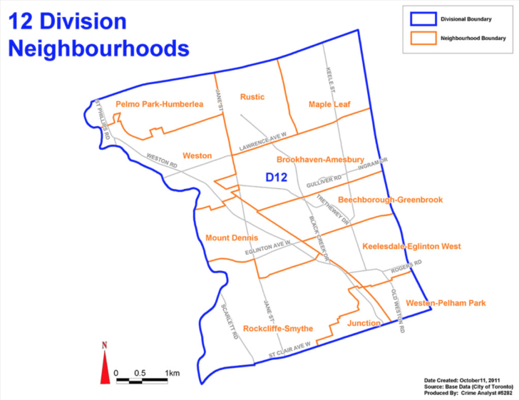The boundaries of 12 Division.