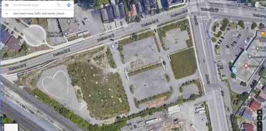 Satellite view of the lot