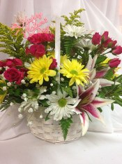 Spring Basket - $40.00 and up - Many combinations of flowers and colors available. Ask your sales specialist for details.