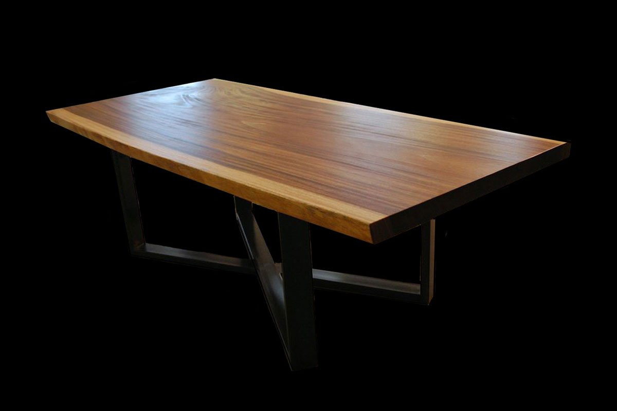100 thick wood coffee table raw wood coffee table golden tables live edge slab creations westphalia wood works geotapseo Choice Image