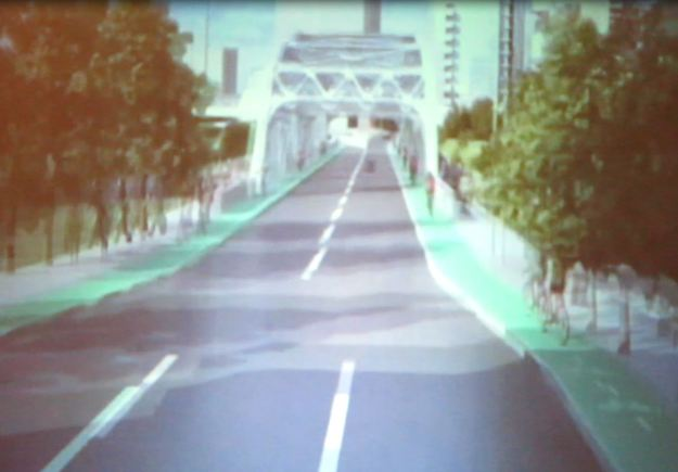 7 bike lanes on bridge