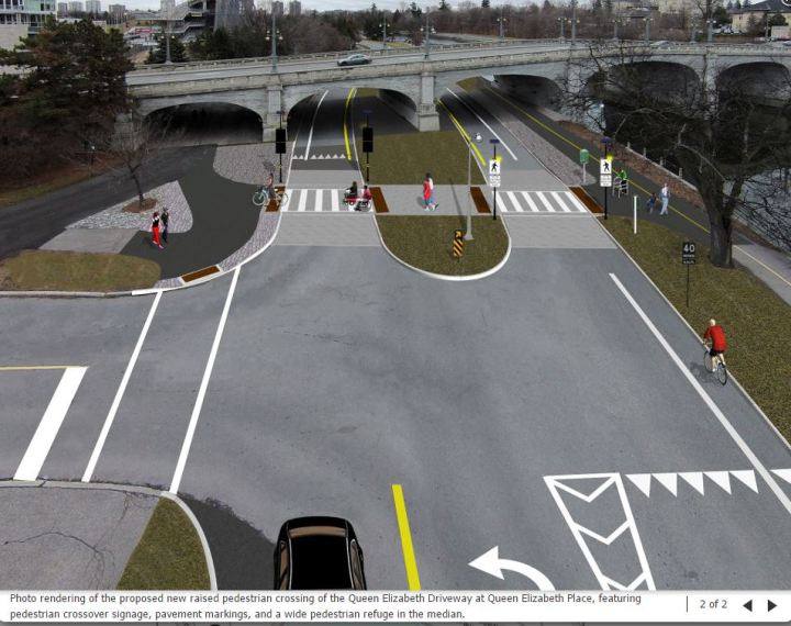 qe ped crossing