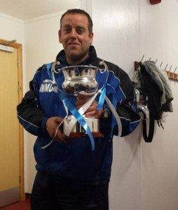 Manager with League Trophy 2014