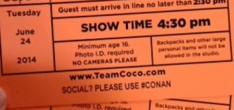 "L.A. Tourist, Day 2: Watching a taping of ""Conan"""