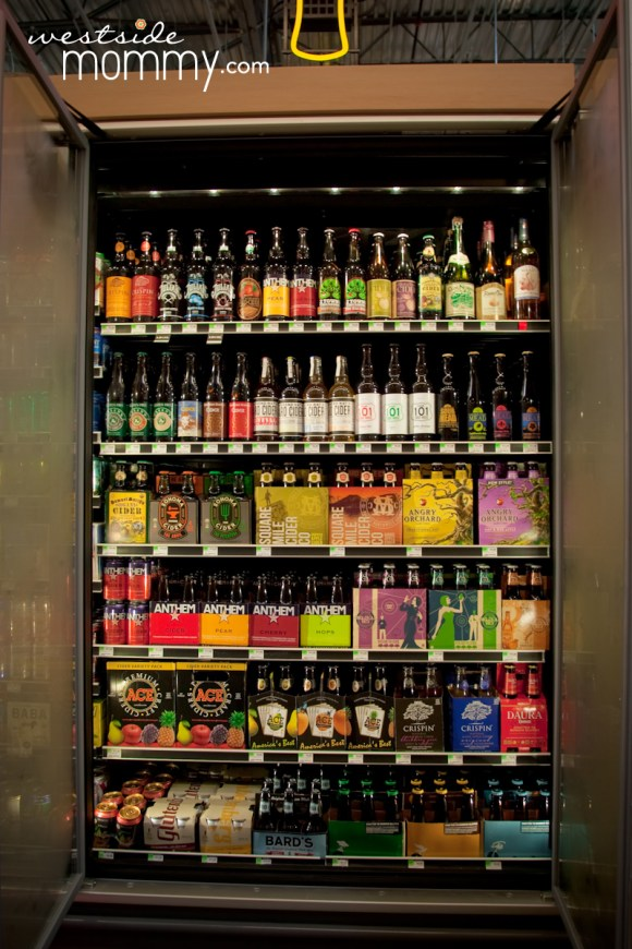This is one of NINE four foot wide refrigerated cases of beer!