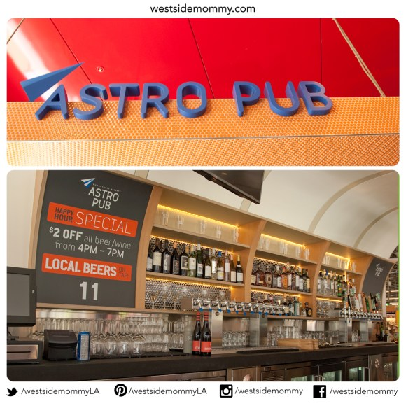 Astro Pub - serving spirits, wine, and beer. They have happy hour too!