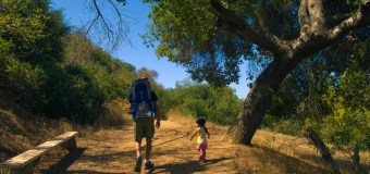 Hiking with my toddler at Franklin Canyon Park