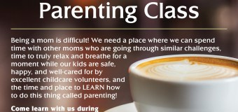 Parenting Class for Moms Series (with childcare) begins Sept. 30 in West LA