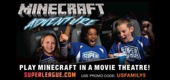 Play MINECRAFT in a Movie Theater!