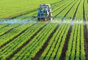 Applying synthetic chemicals to industrial ag fields