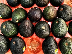 avocados in perspective