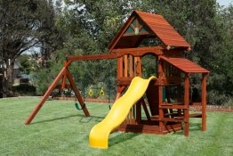 outdoor wooden swing sets in Dallas
