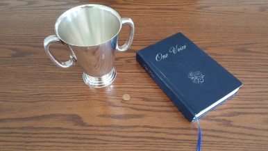 Communion cup used at the Fairbanks church of Christ. Photo provided by Randy Ballard.