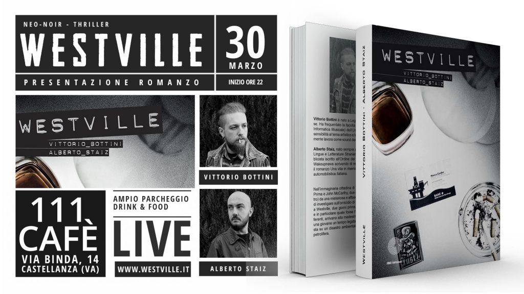 Flyer presentazione romanzo westville
