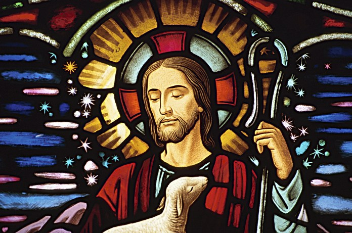 A Stained Glass Image of Jesus Christ