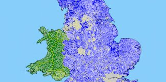 English and Welsh Parishes Map 2010
