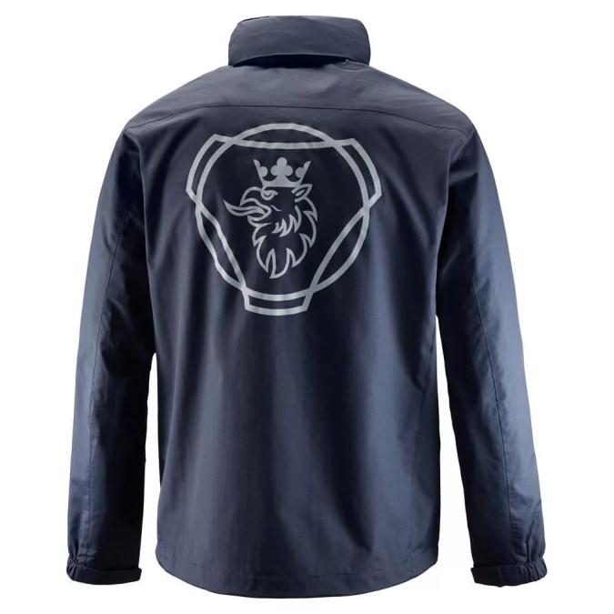 Scania Mens Navy storm jacket back