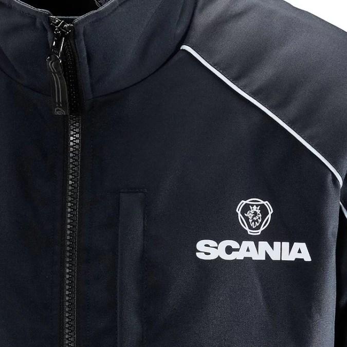 Scania Navy Truck Jacket close up