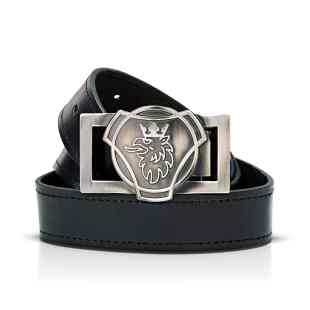 Scania black leather belt